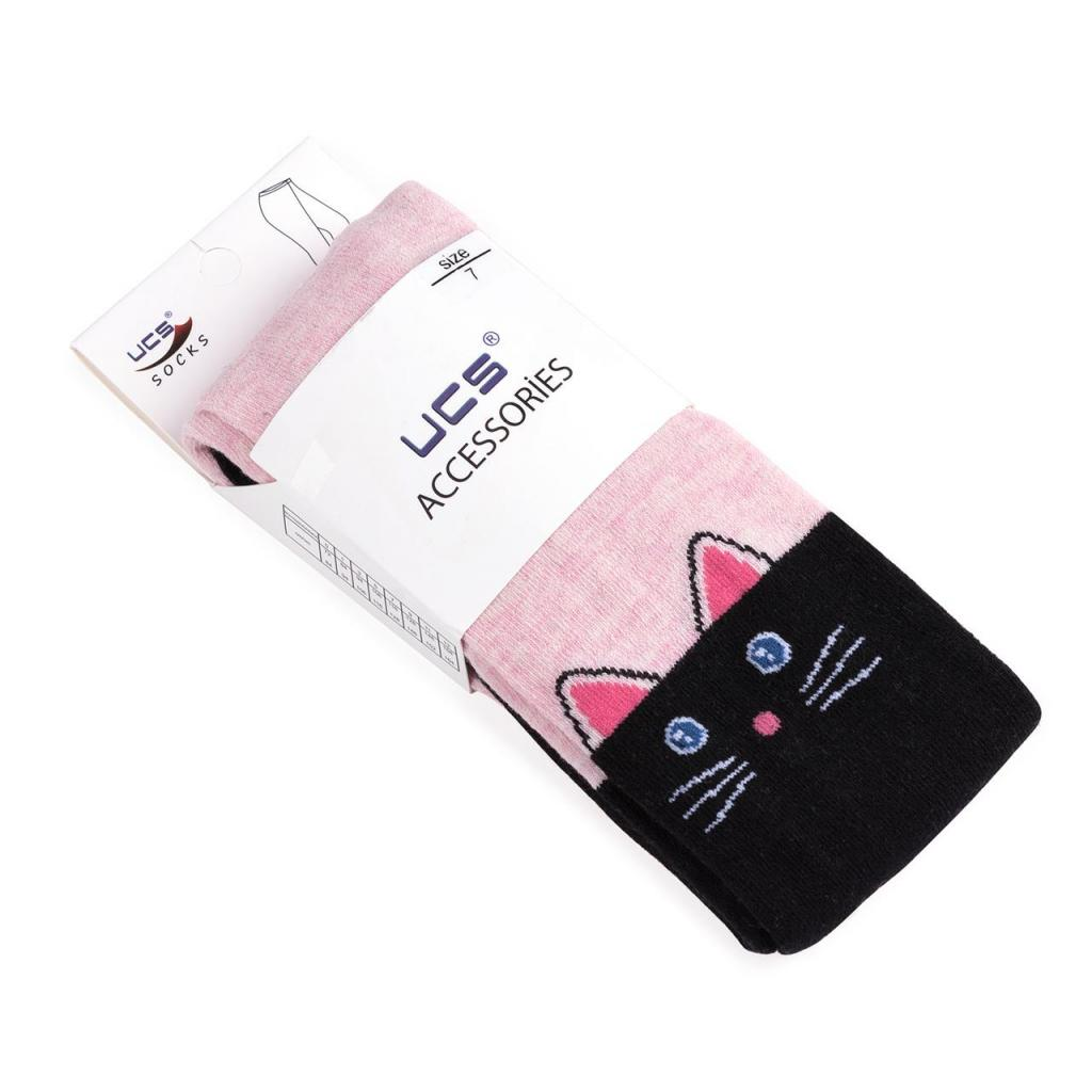 Колготки UCS Socks с котиками (M0C0301-1196-110G-pink) изображение 3