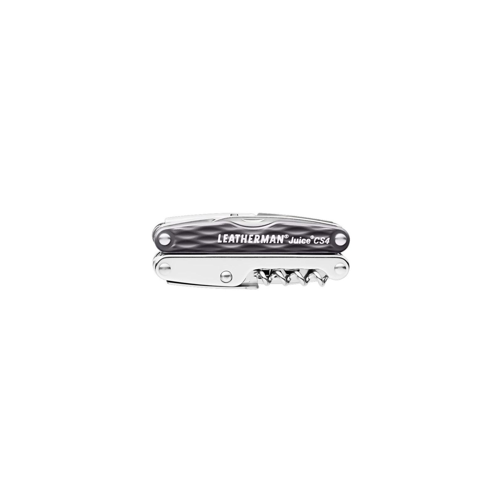 Мультитул Leatherman Juice CS4- GRANITE GRAY с кожаным чехлом (831987) изображение 3