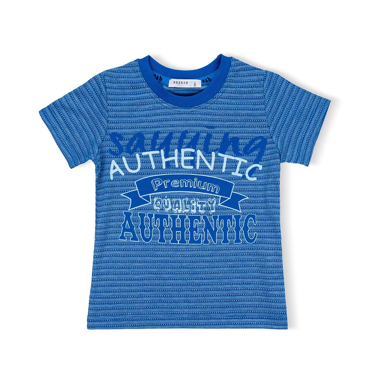 """Футболка детская Breeze с шортами """"AUTHENTIC"""" (10583-92B-blue) изображение 2"""