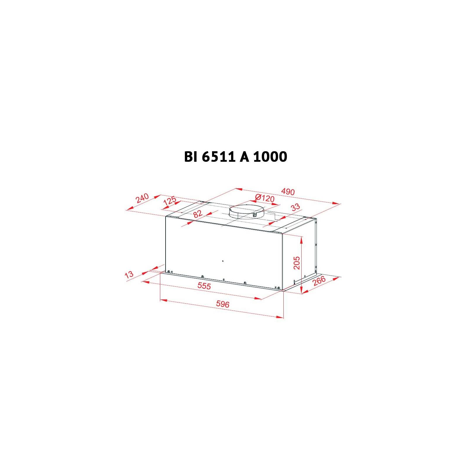 Вытяжка кухонная PERFELLI BI 6511 A 1000 I изображение 7