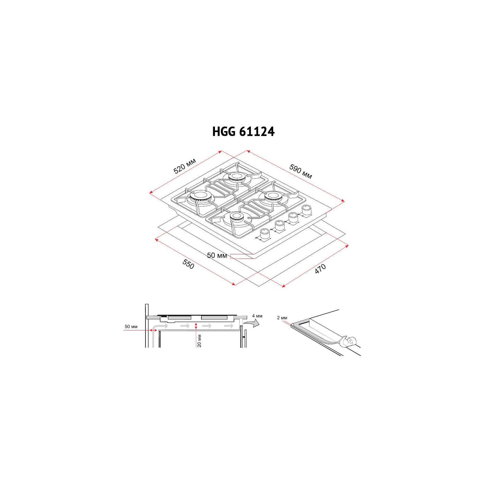 Варочная поверхность PERFELLI HGG 61124 BL изображение 7
