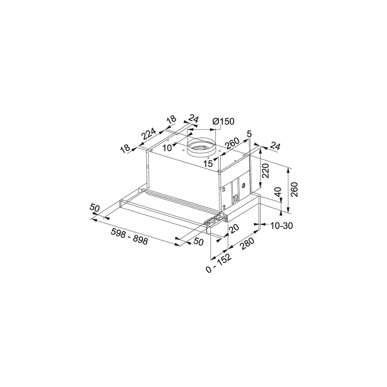 Вытяжка кухонная Franke Maxima FTC 626 XSL (110.0275.345) изображение 2