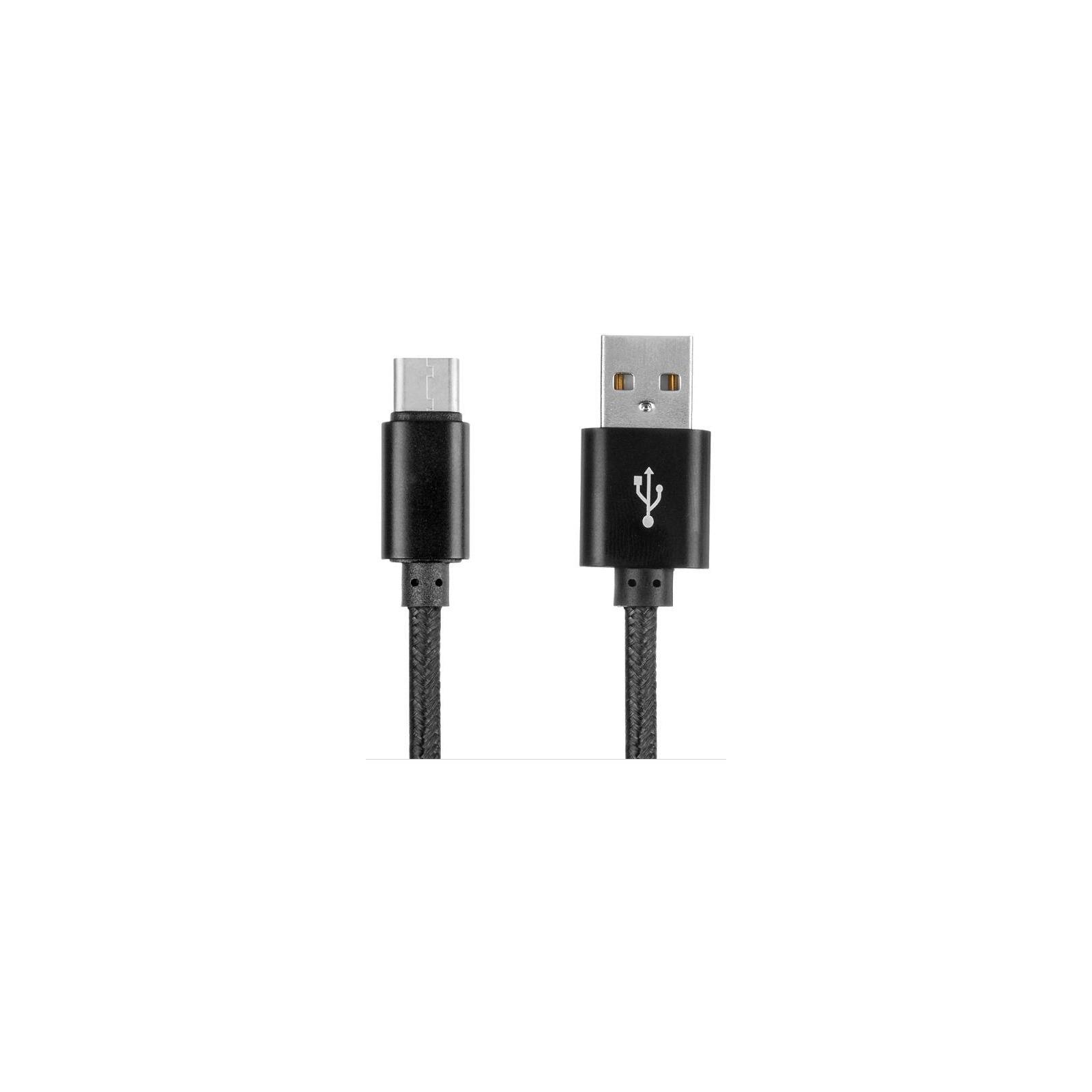 Дата кабель USB 2.0 AM to Type-C 1.5m DC-TC-152NR black Greenwave (R0015190)