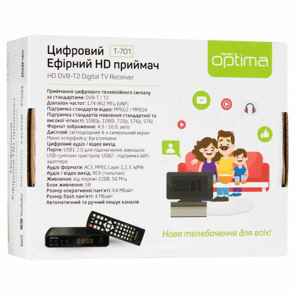 ТВ тюнер Optima DVB-T2 T-701 (70412) изображение 11
