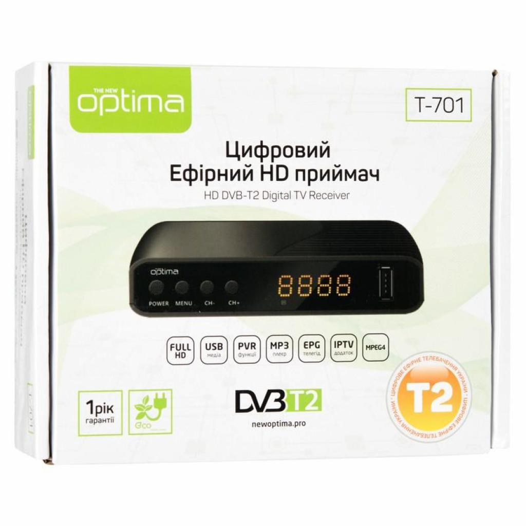ТВ тюнер Optima DVB-T2 T-701 (70412) изображение 12