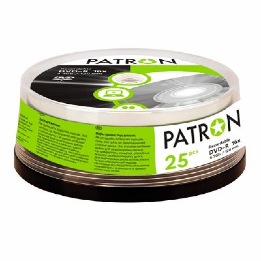 Диск DVD-R PATRON 4.7Gb 16x Cake box 25шт (INS-D022)
