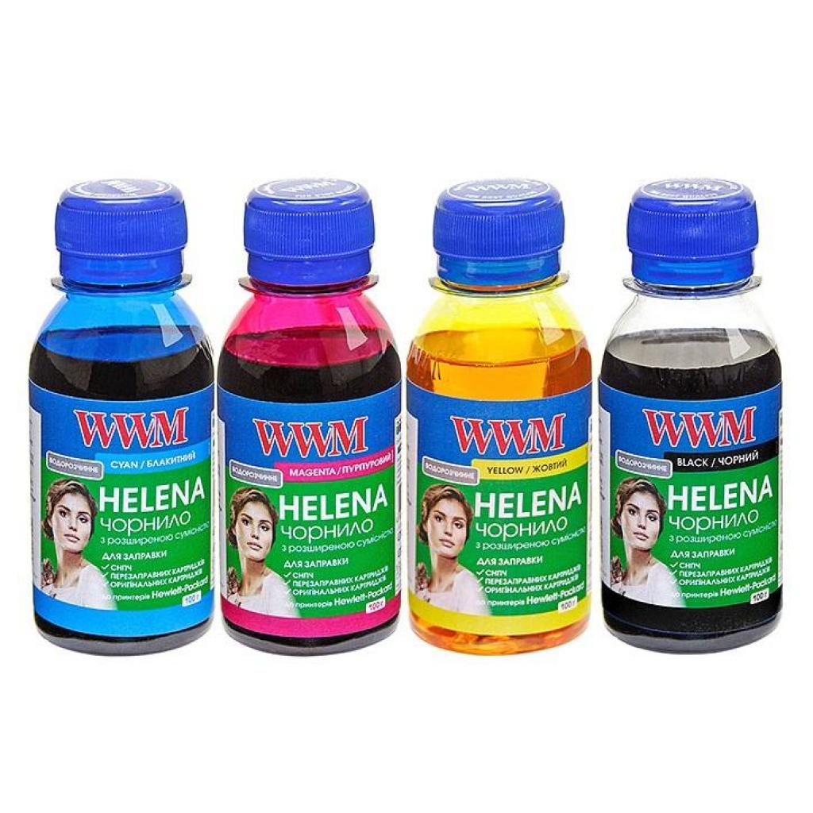 Чернила WWM HP UNIVERSAL HELENA B/C/M/Y SET (HELENA/SET.4-2)