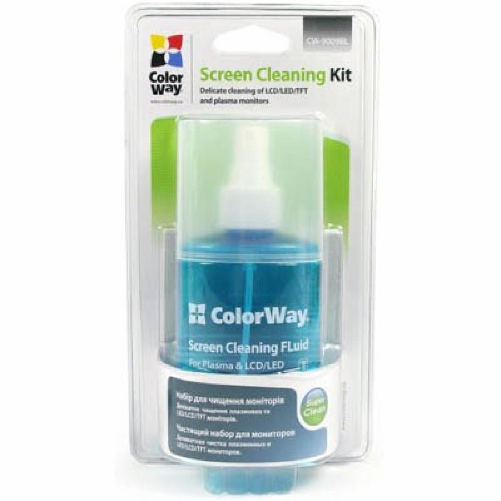Универсальный чистящий набор ColorWay набір 2в1 серветка і спрей (CW-9009BL)