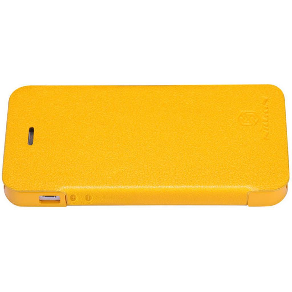 Чехол для моб. телефона NILLKIN для iPhone 5 /Fresh/ Leather/Yellow (6088706) изображение 2