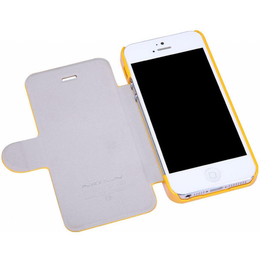 Чехол для моб. телефона NILLKIN для iPhone 5 /Fresh/ Leather/Yellow (6088706) изображение 3