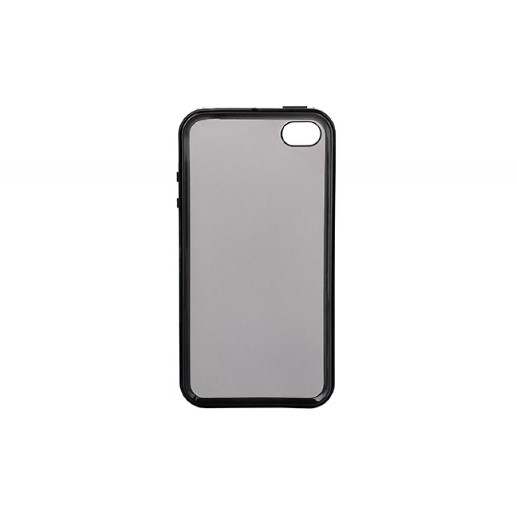 Чехол для моб. телефона для Apple Iphone 4 (Black Clear) Elastic PU Drobak (210275) изображение 2
