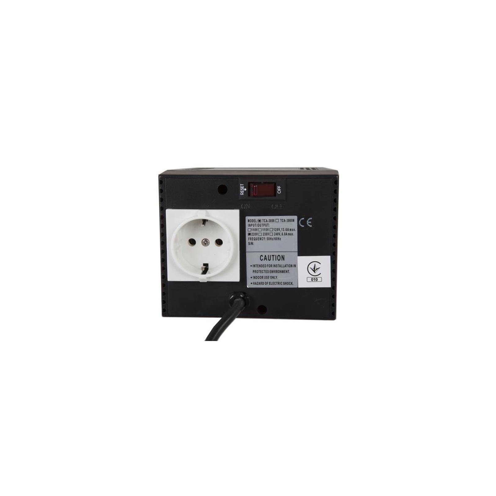 Стабилизатор Powercom TCA-3000 (TCA-3000 black) изображение 2