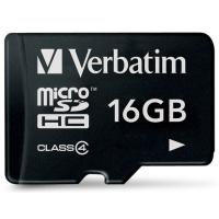 Карта памяти Verbatim 16GB microSDHC class 4 (44007)