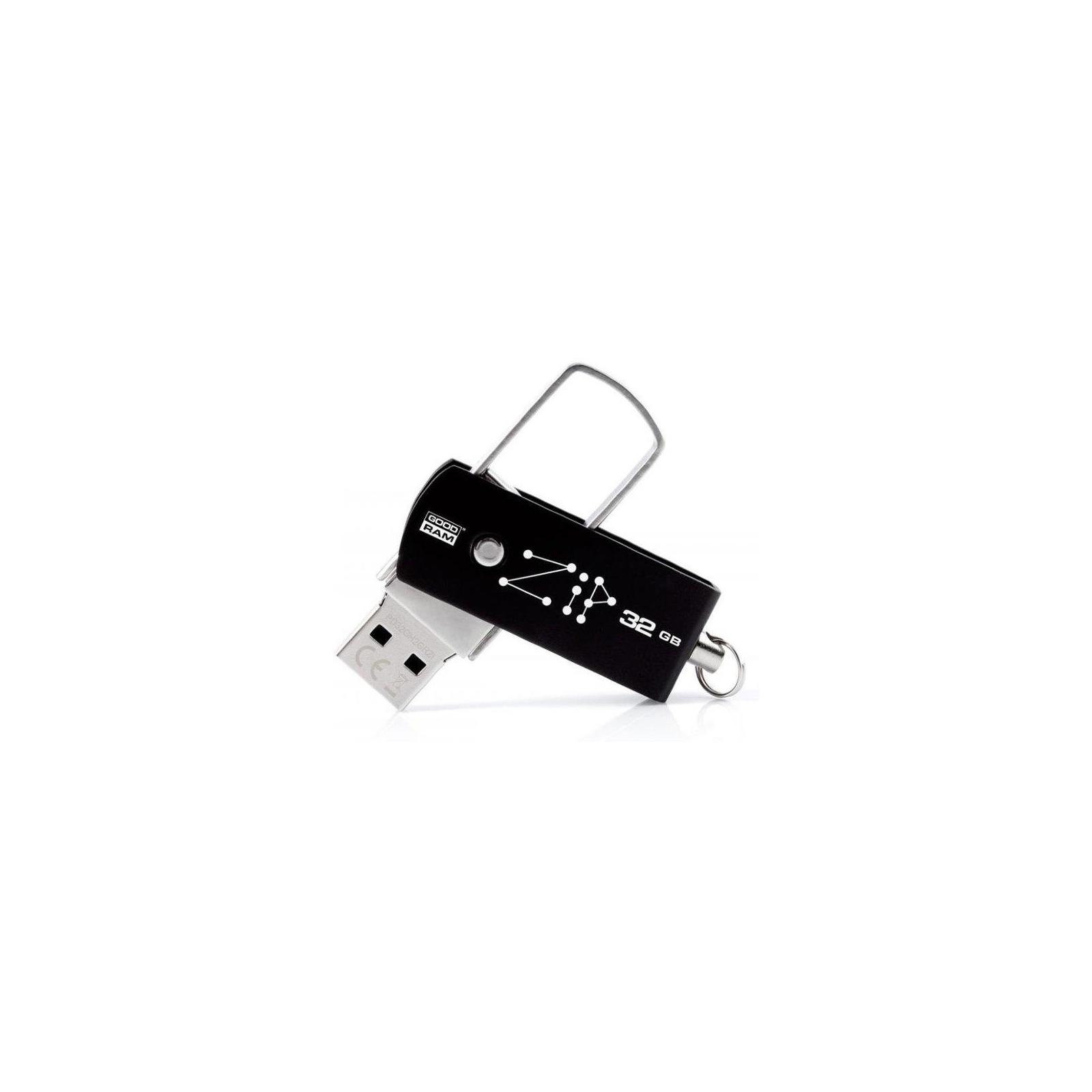 USB флеш накопитель GOODRAM 32GB Zip Black USB 2.0 (PD32GH2GRZIKR9) изображение 2