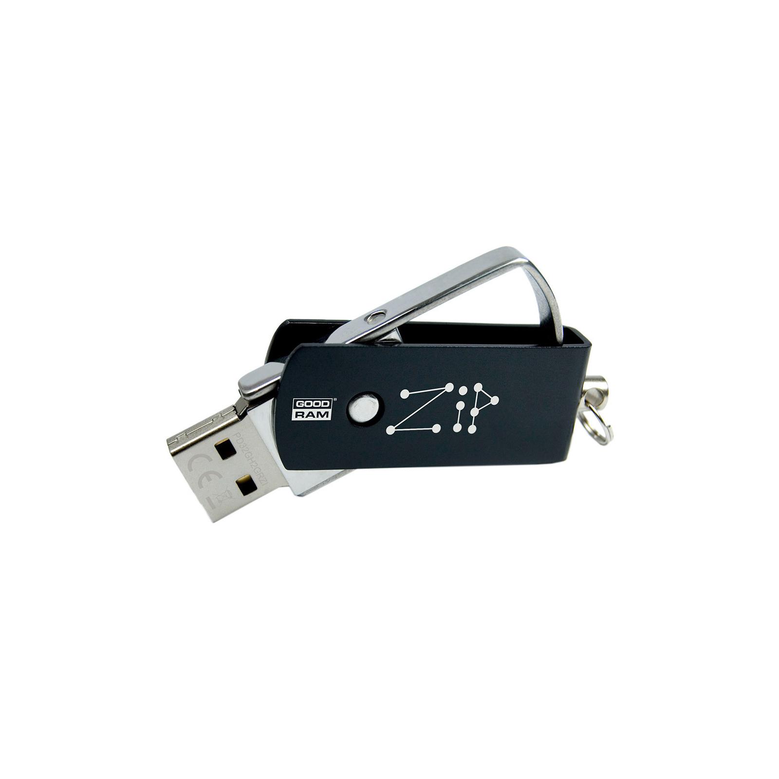 USB флеш накопитель GOODRAM 32GB Zip Black USB 2.0 (PD32GH2GRZIKR9) изображение 3