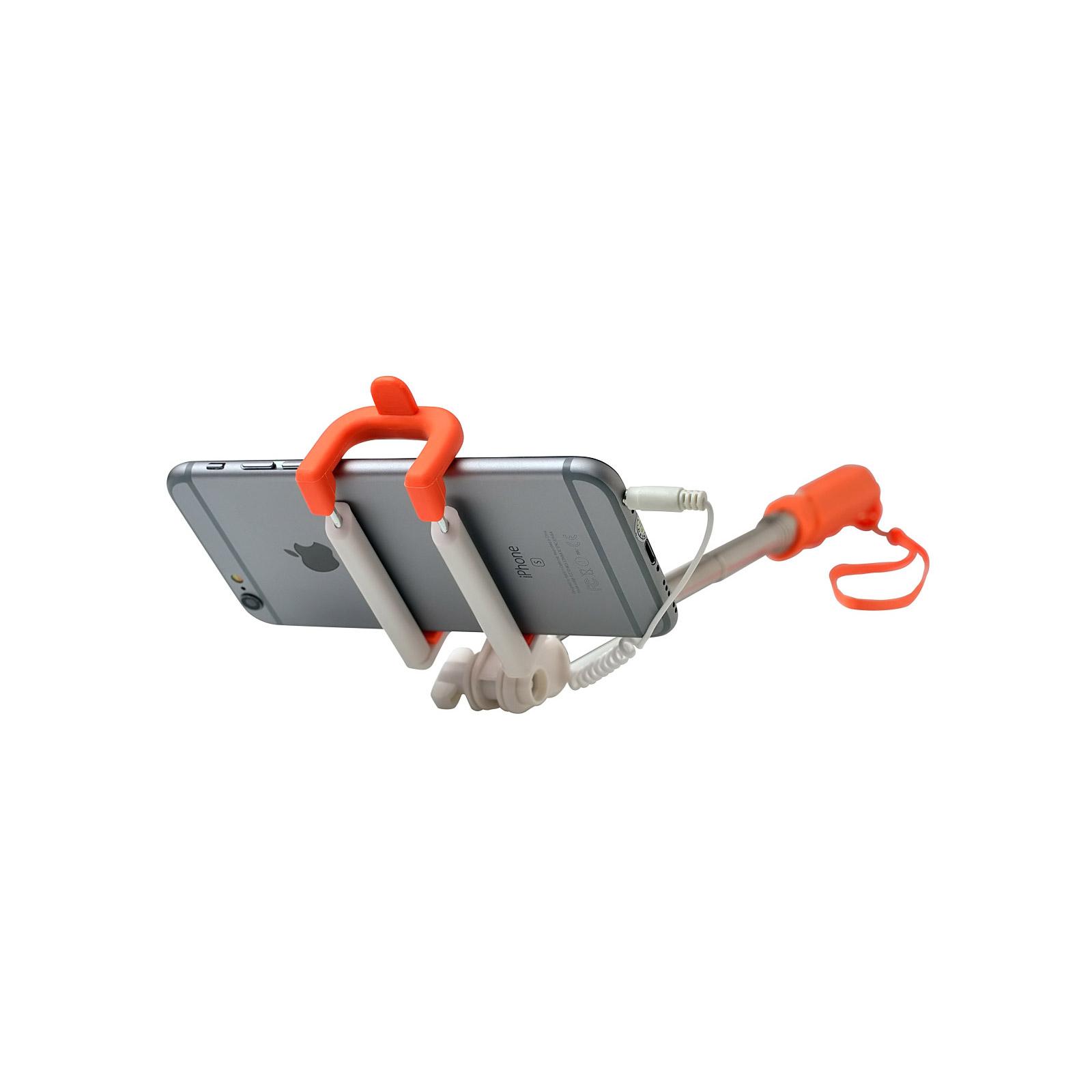 Монопод для селфи Grand-X Rubber c кабелем 3,5 U-крепление (MPGRJ3UO) изображение 5