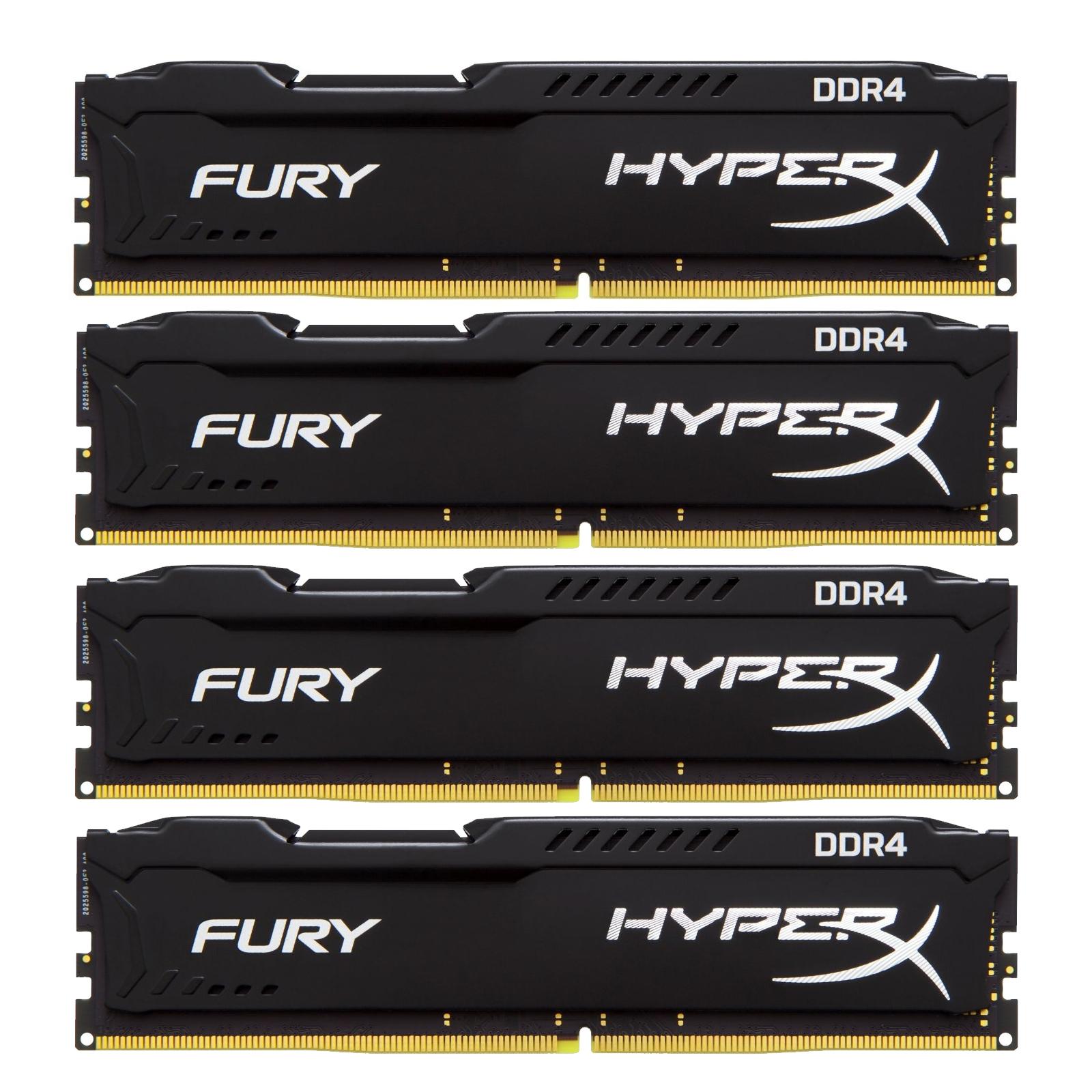 Модуль памяти для компьютера DDR4 64GB (4x16GB) 2133 MHz HyperX FURY Black Kingston (HX421C14FBK4/64)