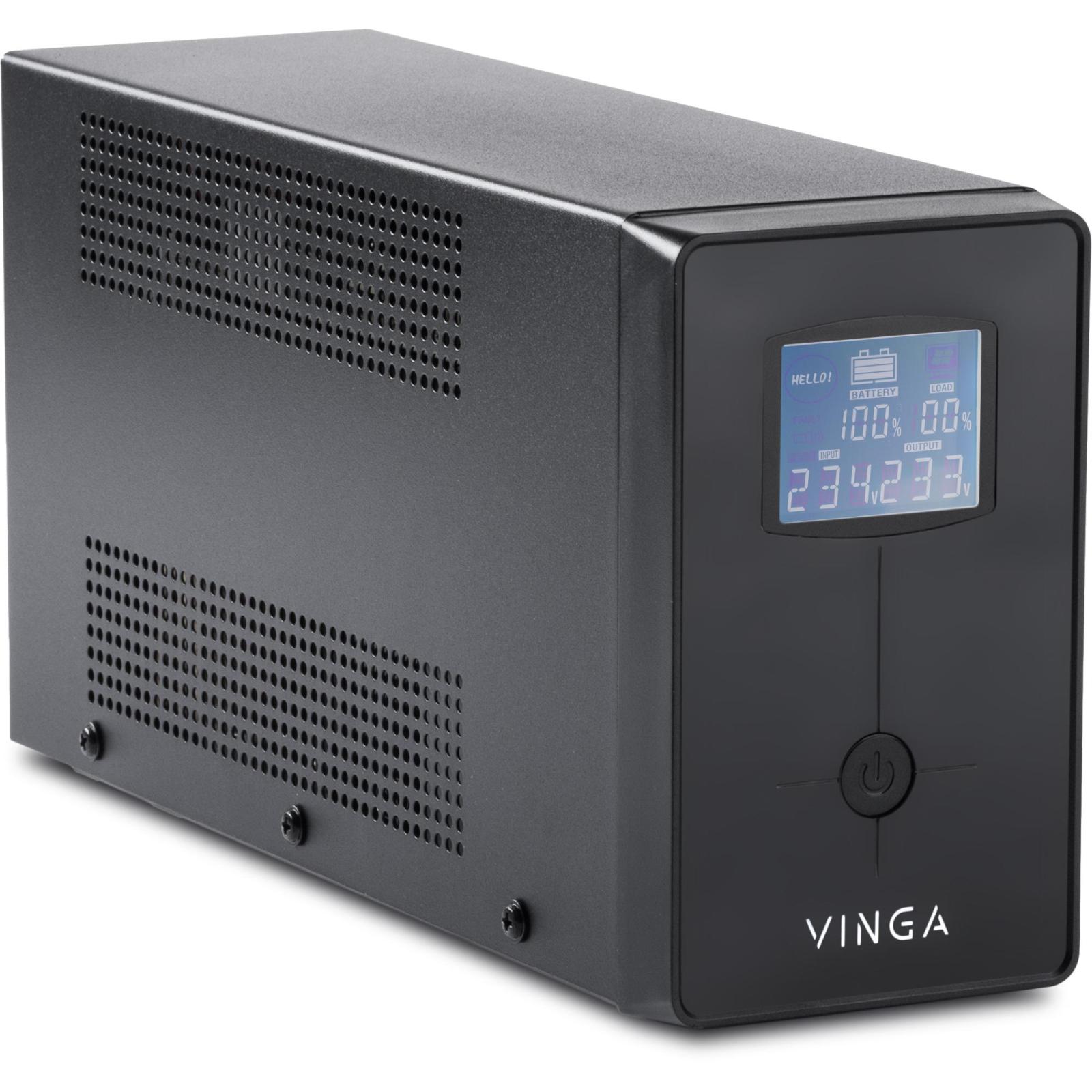 Источник бесперебойного питания Vinga LCD 1200VA metal case (VPC-1200M) изображение 2