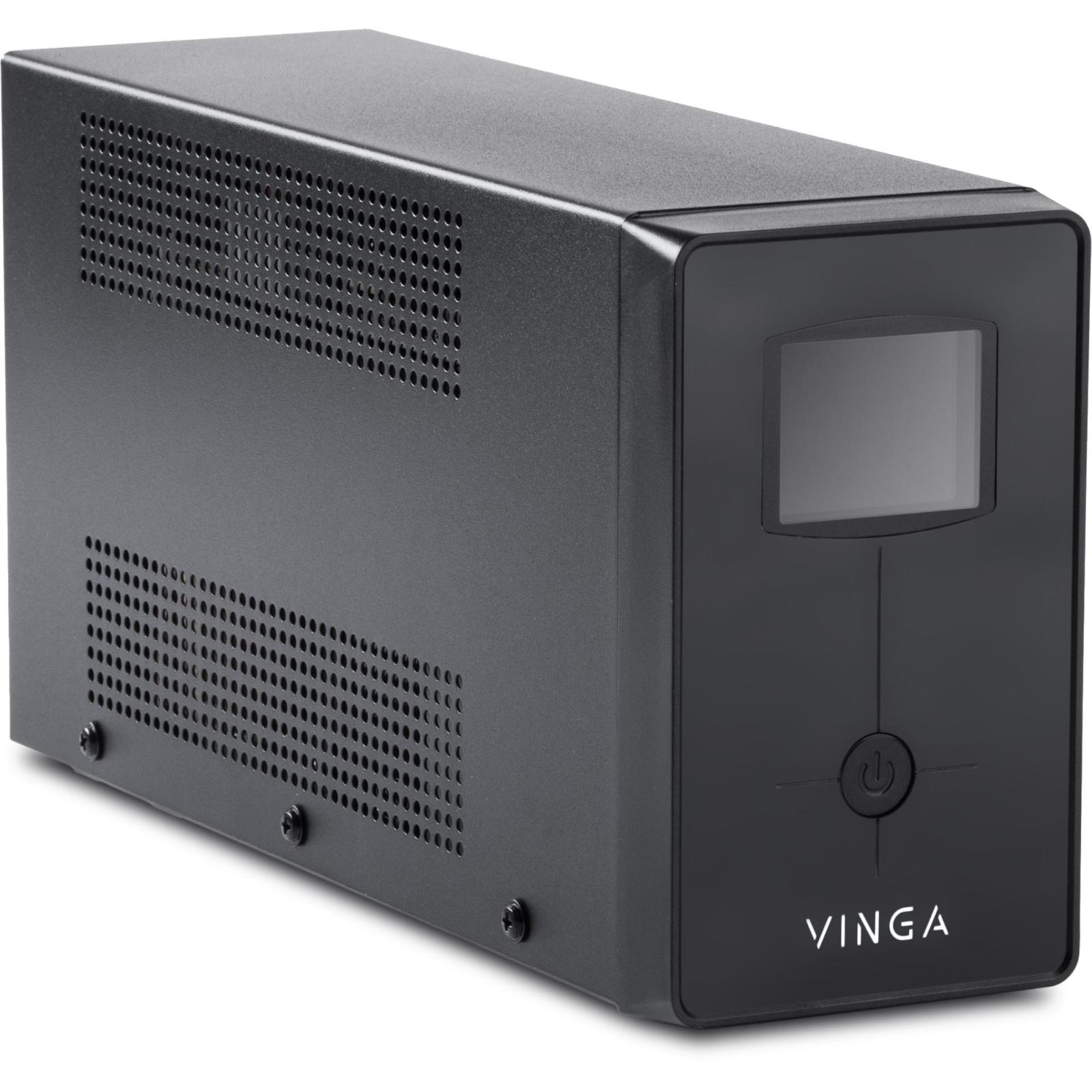 Источник бесперебойного питания Vinga LCD 1200VA metal case (VPC-1200M) изображение 5