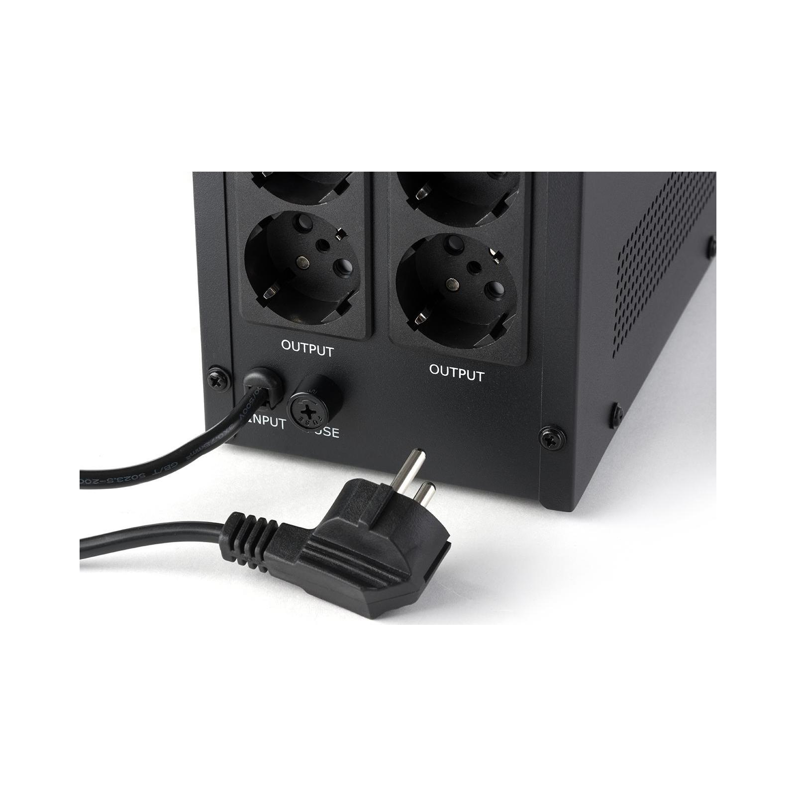 Источник бесперебойного питания Vinga LCD 1200VA metal case (VPC-1200M) изображение 8