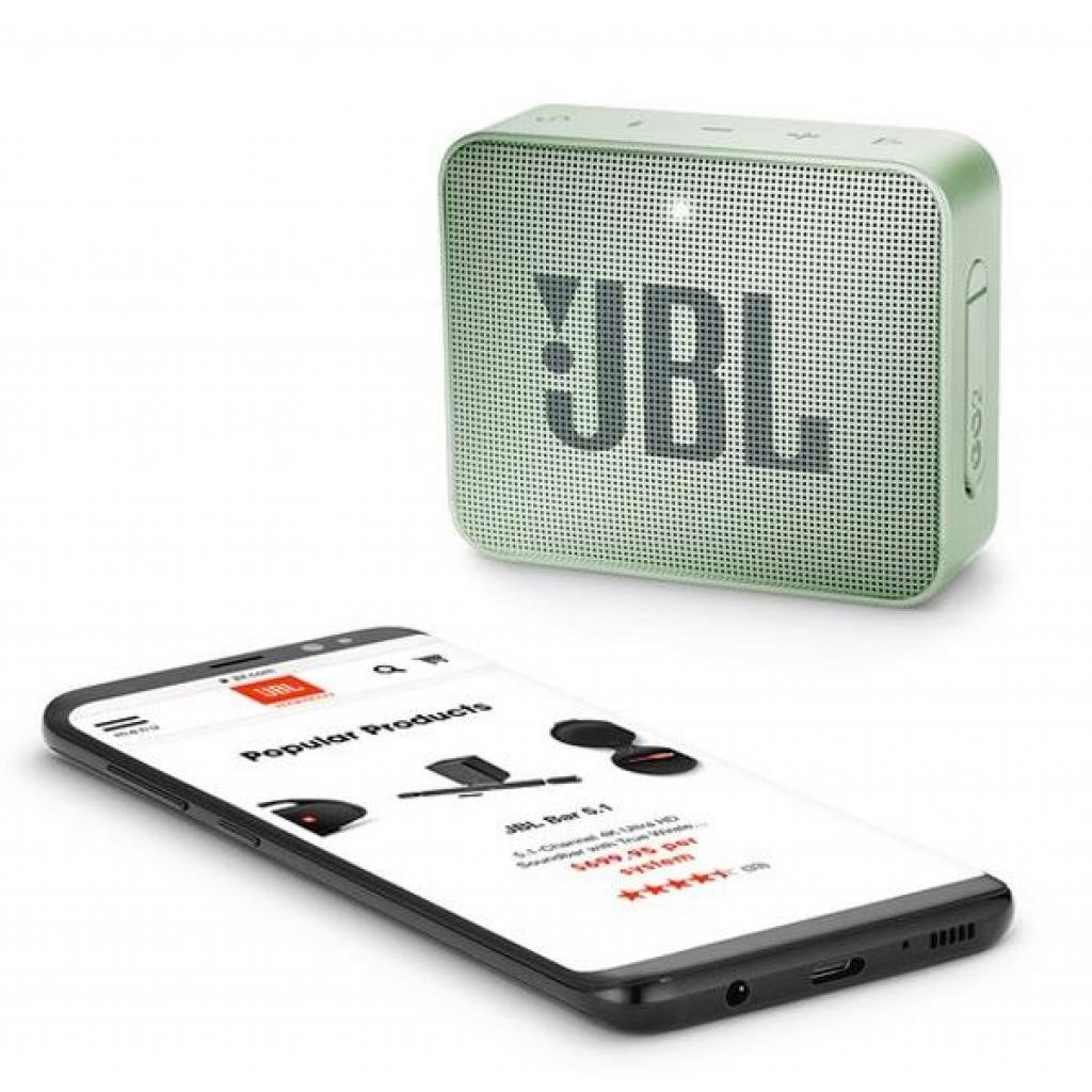 Акустическая система JBL GO 2 Mint (JBLGO2MINT) изображение 6