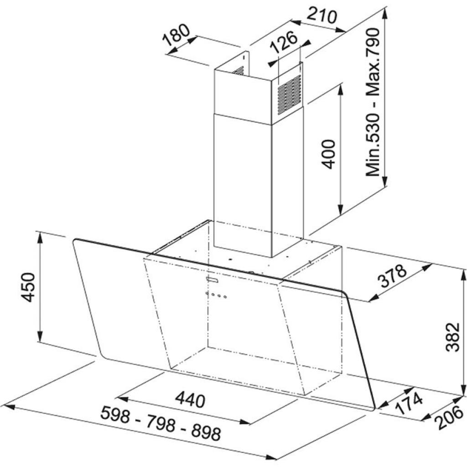 Вытяжка кухонная Franke Vertical Evo FPJ 615 V WH A (110.0361.903) изображение 2
