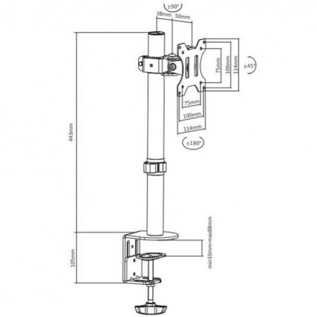 Кронштейн ITech MBES-01F изображение 4