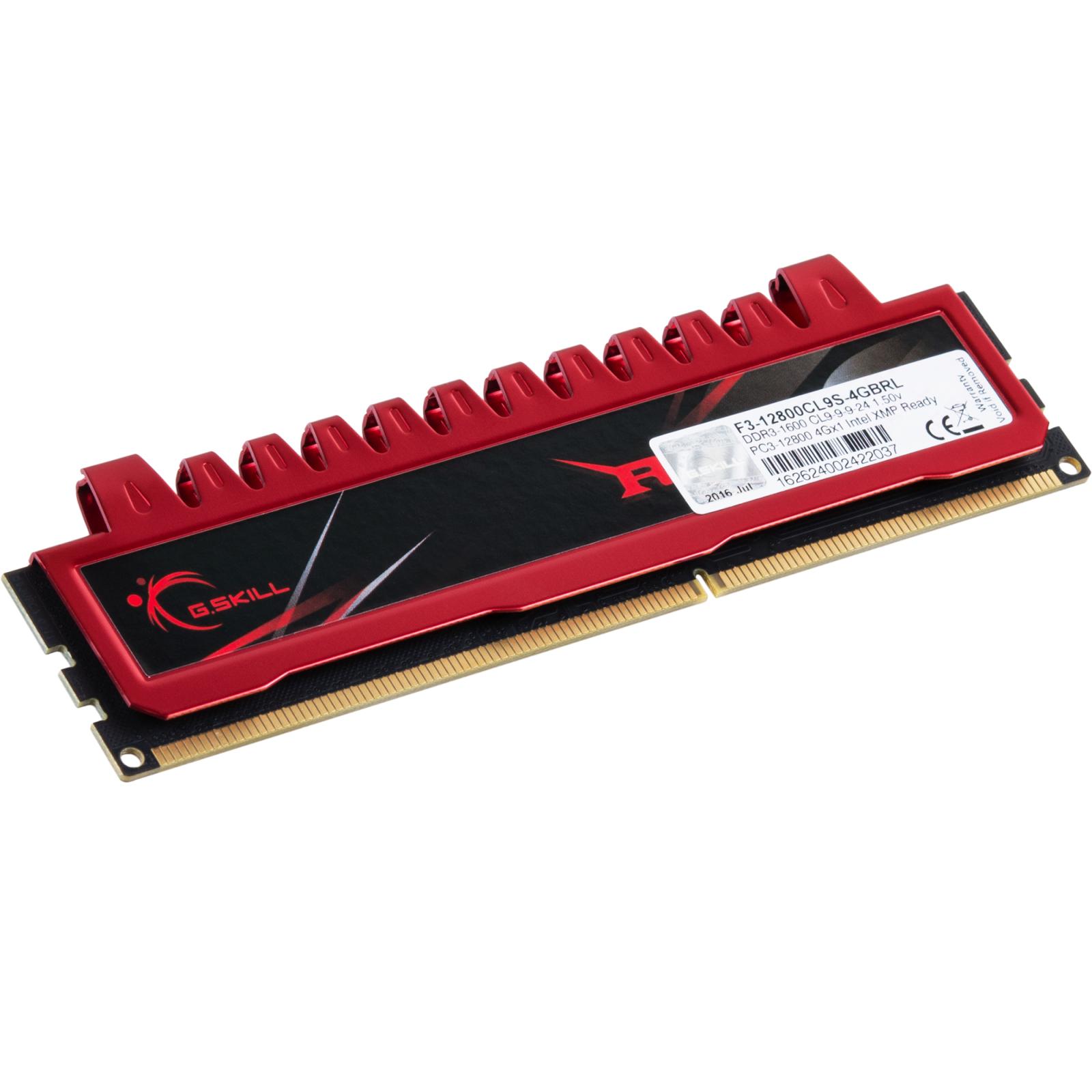 Модуль памяти для компьютера DDR3 4GB 1600 MHz G.Skill (F3-12800CL9S-4GBRL) изображение 2