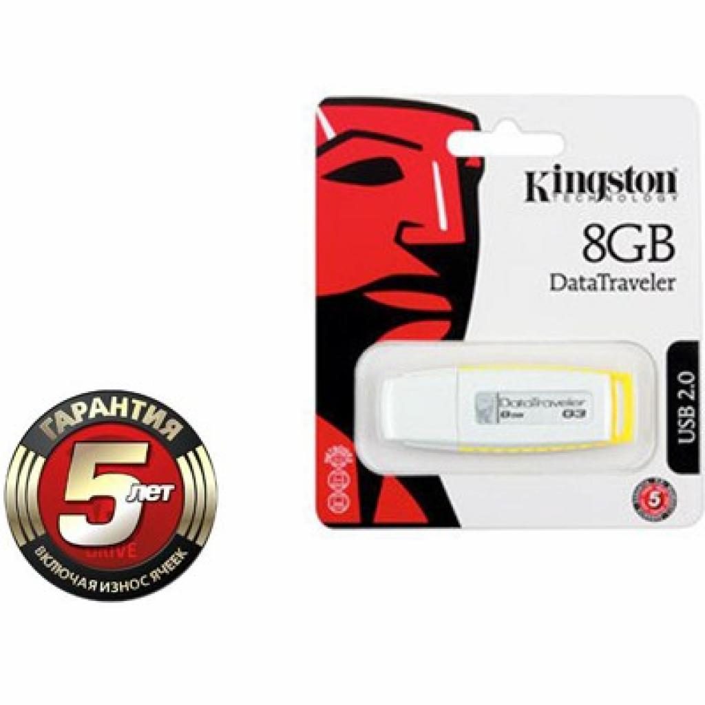 USB флеш накопитель 8Gb DataTraveler Generation 3 Kingston (DTIG3/8GB/DTIG3/8GBZ) изображение 3