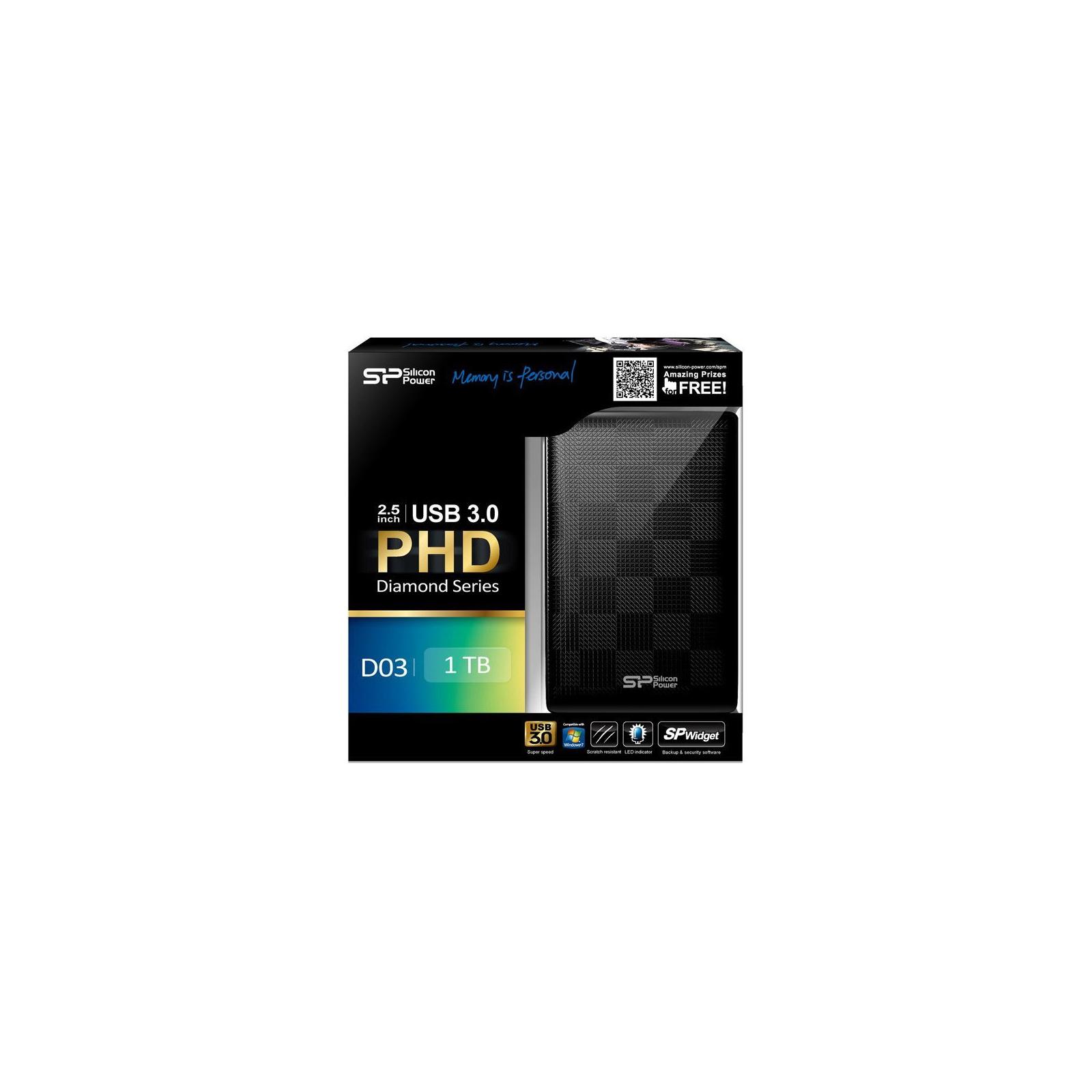 """Внешний жесткий диск Silicon Power 2.5"""" 1TB (SP010TBPHDD03S3K) изображение 3"""