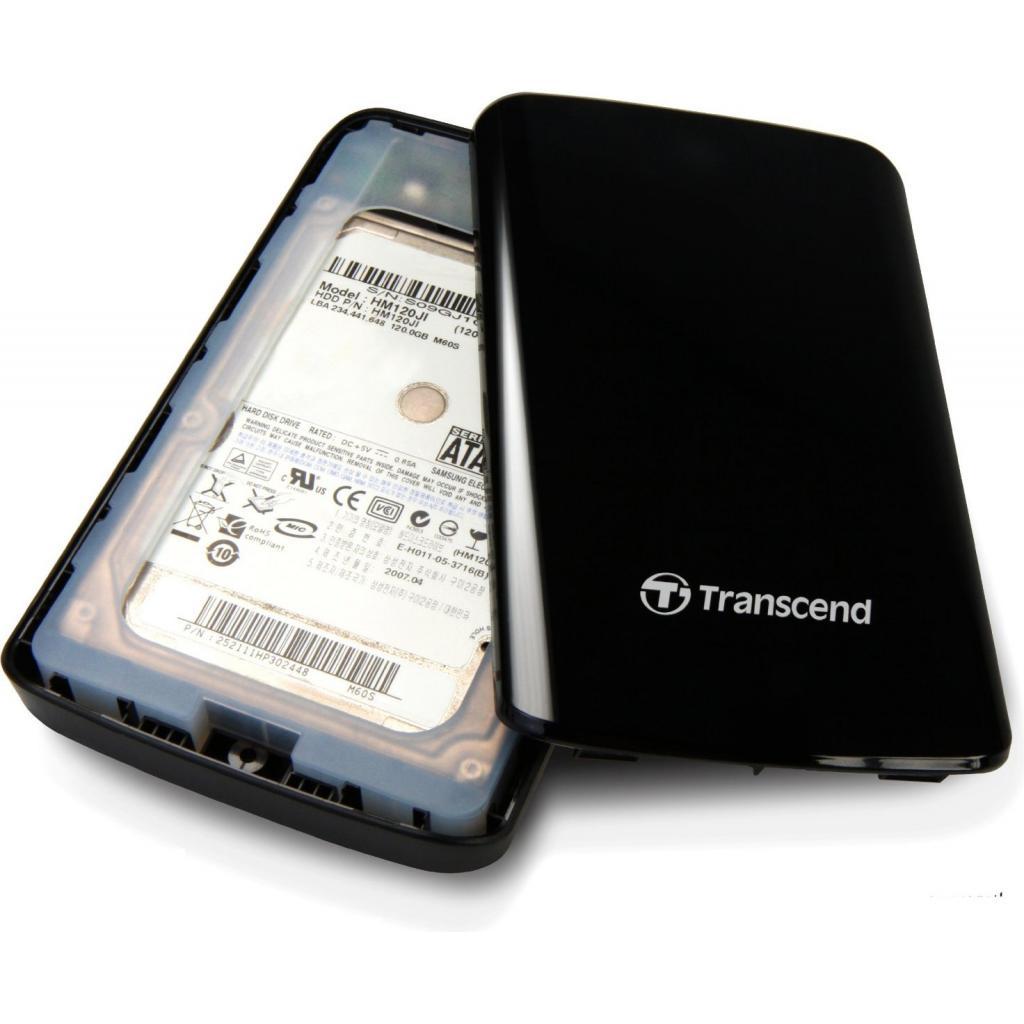 "Внешний жесткий диск 2.5"" 1TB Transcend (TS1TSJ25D2) изображение 5"