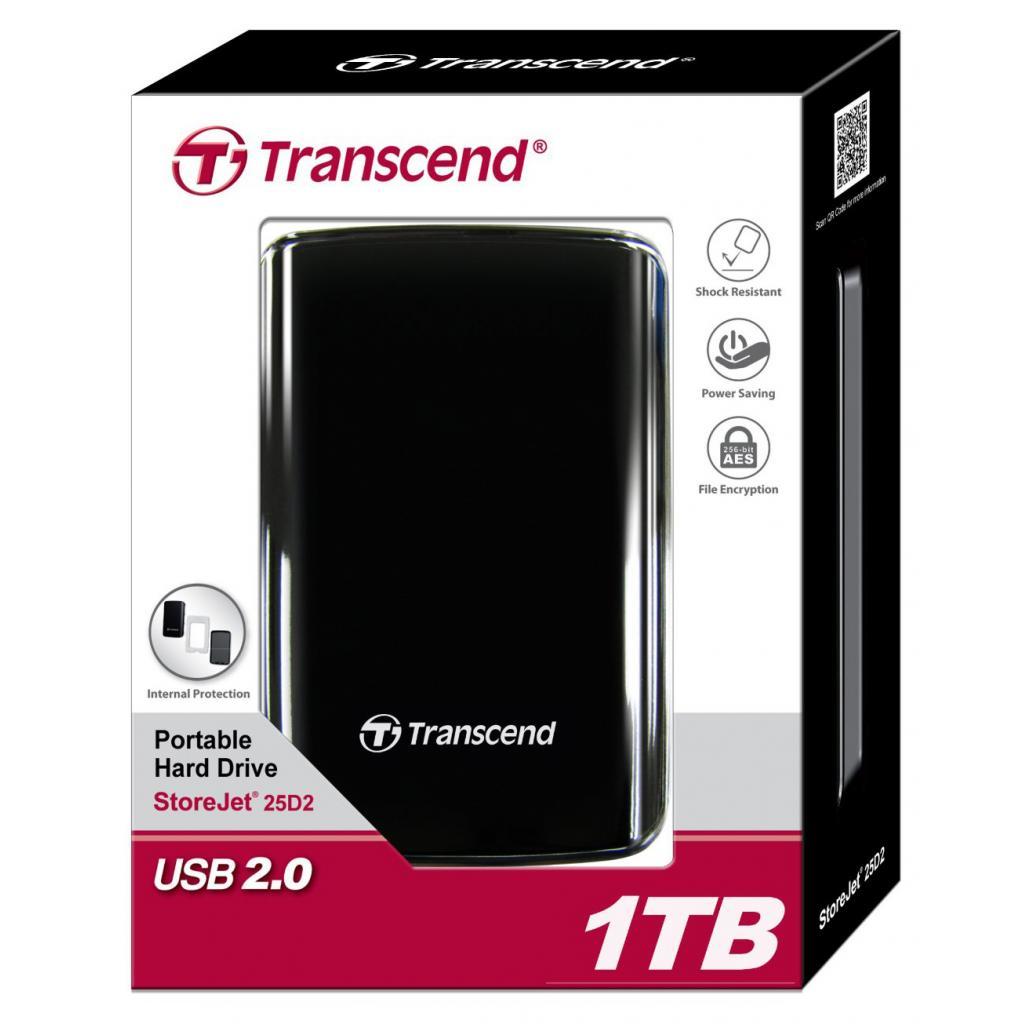 "Внешний жесткий диск 2.5"" 1TB Transcend (TS1TSJ25D2) изображение 6"