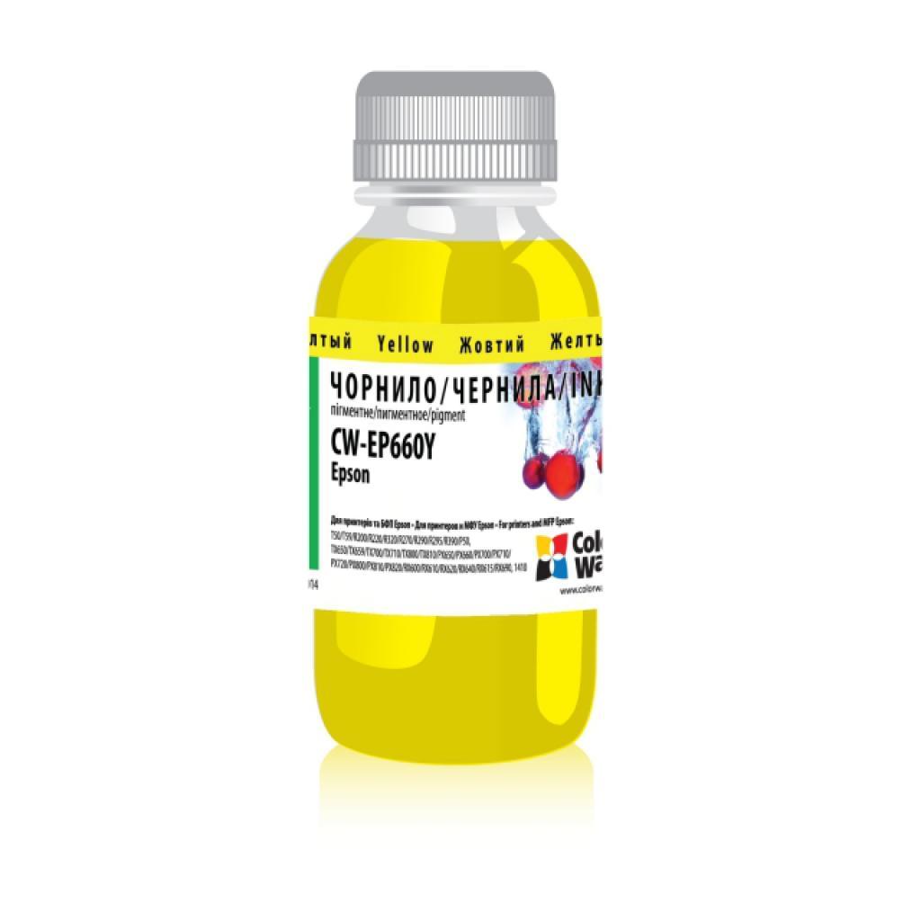 Чернила ColorWay Epson SP T50/59 R200/270 200мл YellowPigm (CW-EP660Y02)