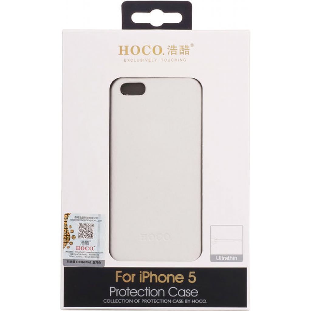 Чехол для моб. телефона HOCO для iPhone 5 /Duke back (HI-BL006 White) изображение 3