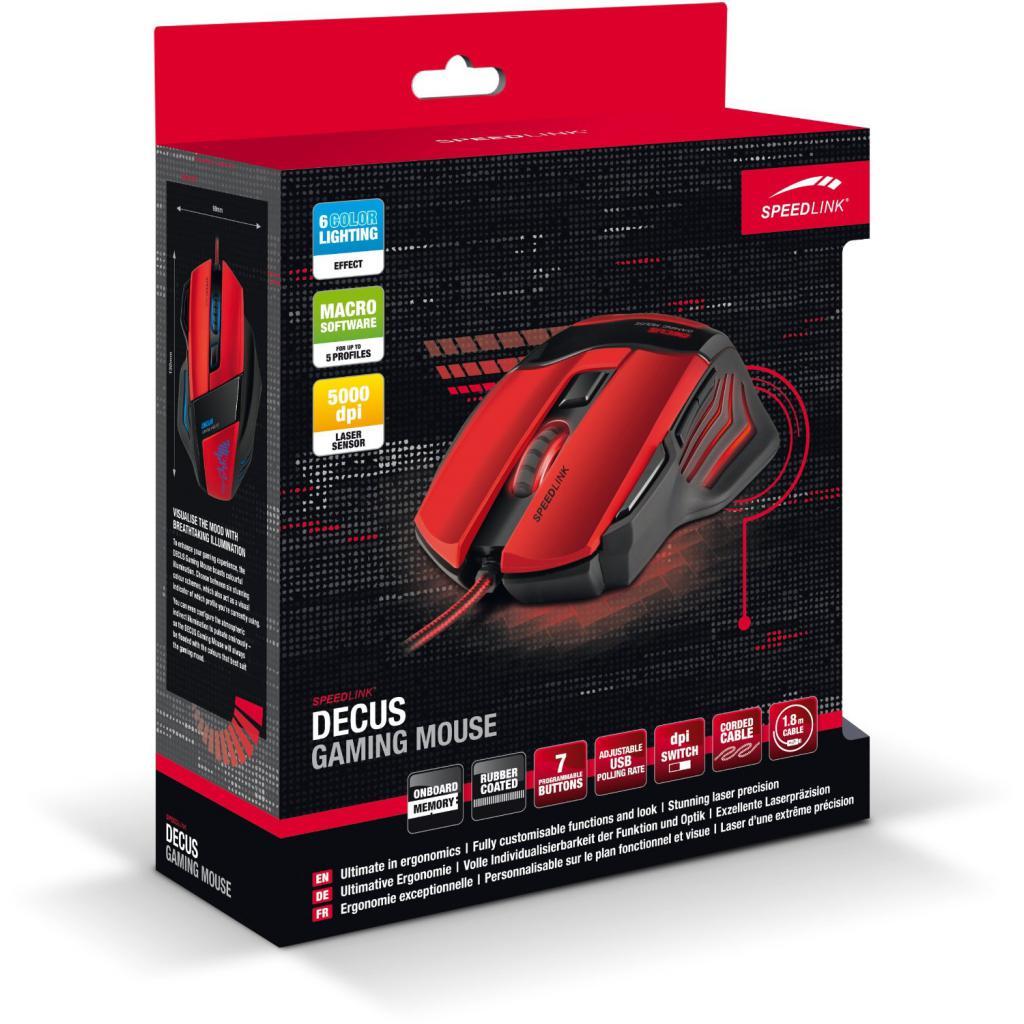Мышка Speedlink DECUS Gaming Mouse (SL-6397-BK) изображение 5