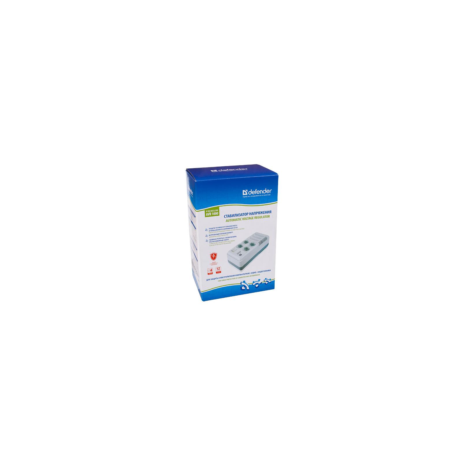 Стабилизатор Defender Premium 600VA (99022) изображение 3