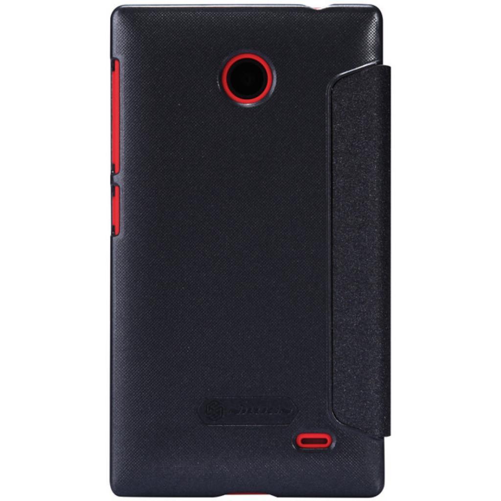 Чехол для моб. телефона NILLKIN для Nokia X /Spark/ Leather/Black (6147153) изображение 5