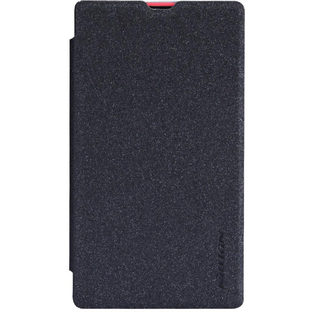 Чехол для моб. телефона NILLKIN для Nokia X /Spark/ Leather/Black (6147153)