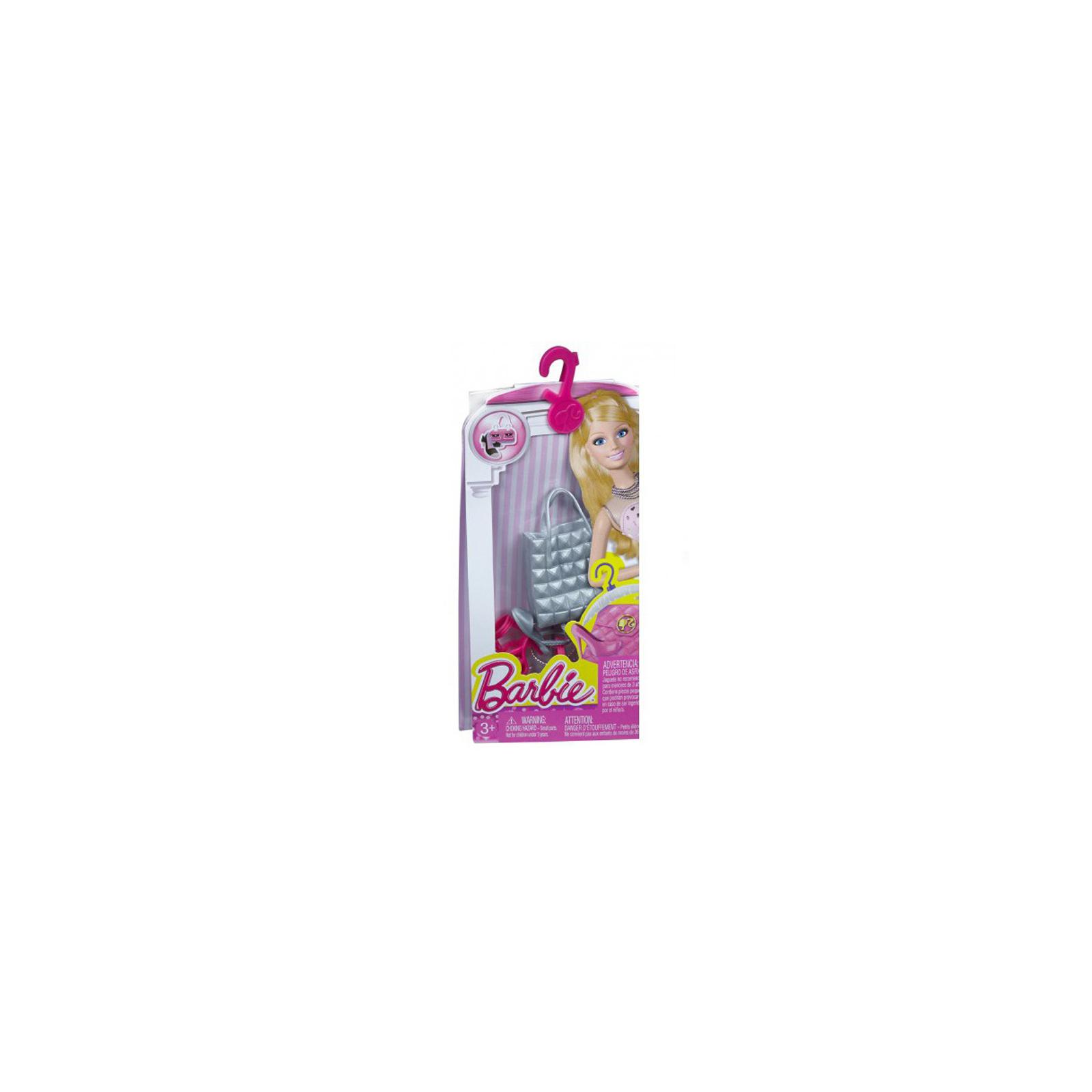Аксессуар к кукле BARBIE Серебристая сумка Гламур (CFX30-3) изображение 2