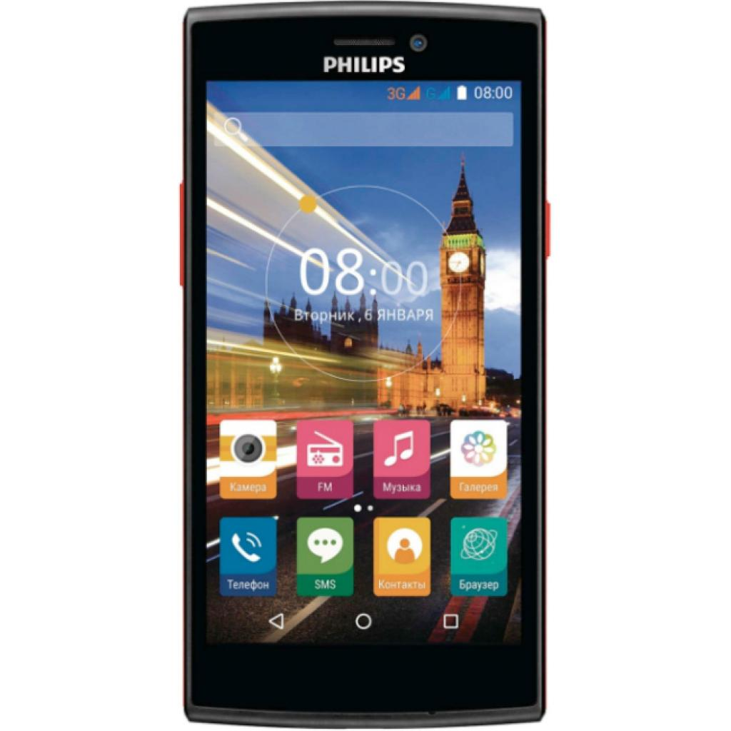 Мобильный телефон PHILIPS S337 Black Red (8712581736538)
