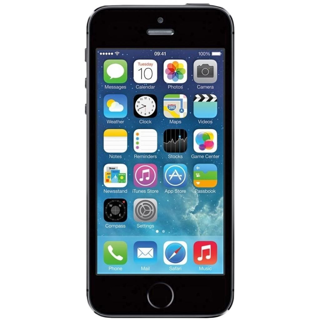 Мобильный телефон Apple iPhone 5S 16Gb Space Grey Original factory refurbished (FE432UA/A)