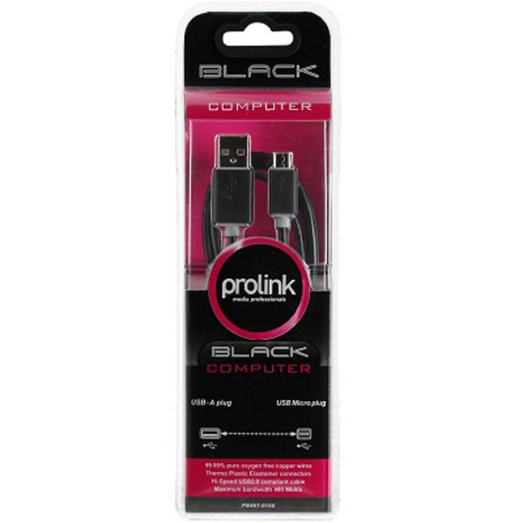 Дата кабель USB 2.0 AM to Micro 5P 0.2m Prolink (PB487-0020) изображение 4