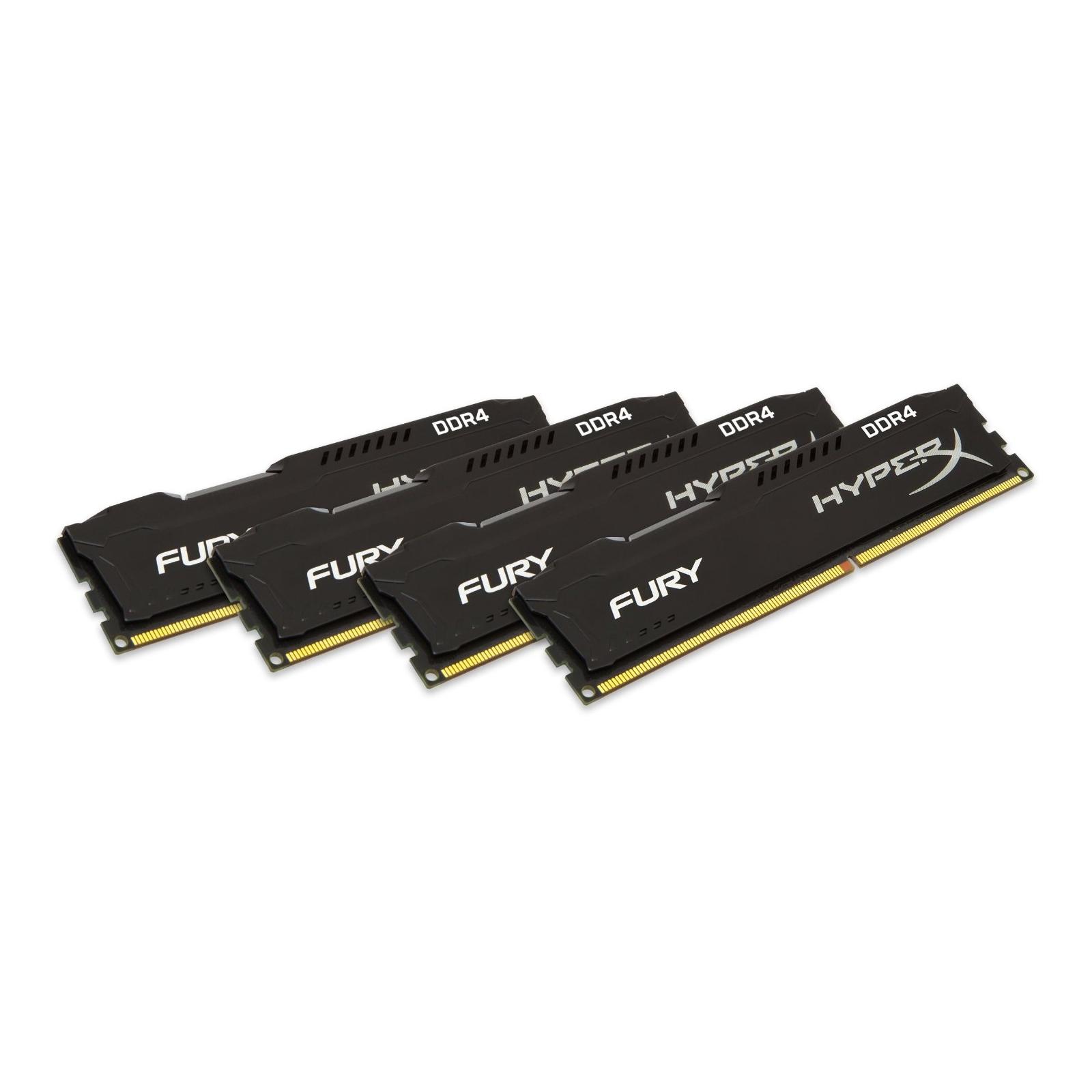 Модуль памяти для компьютера DDR4 64GB (4x16GB) 2400 MHz HyperX FURY Black Kingston (HX424C15FBK4/64) изображение 2