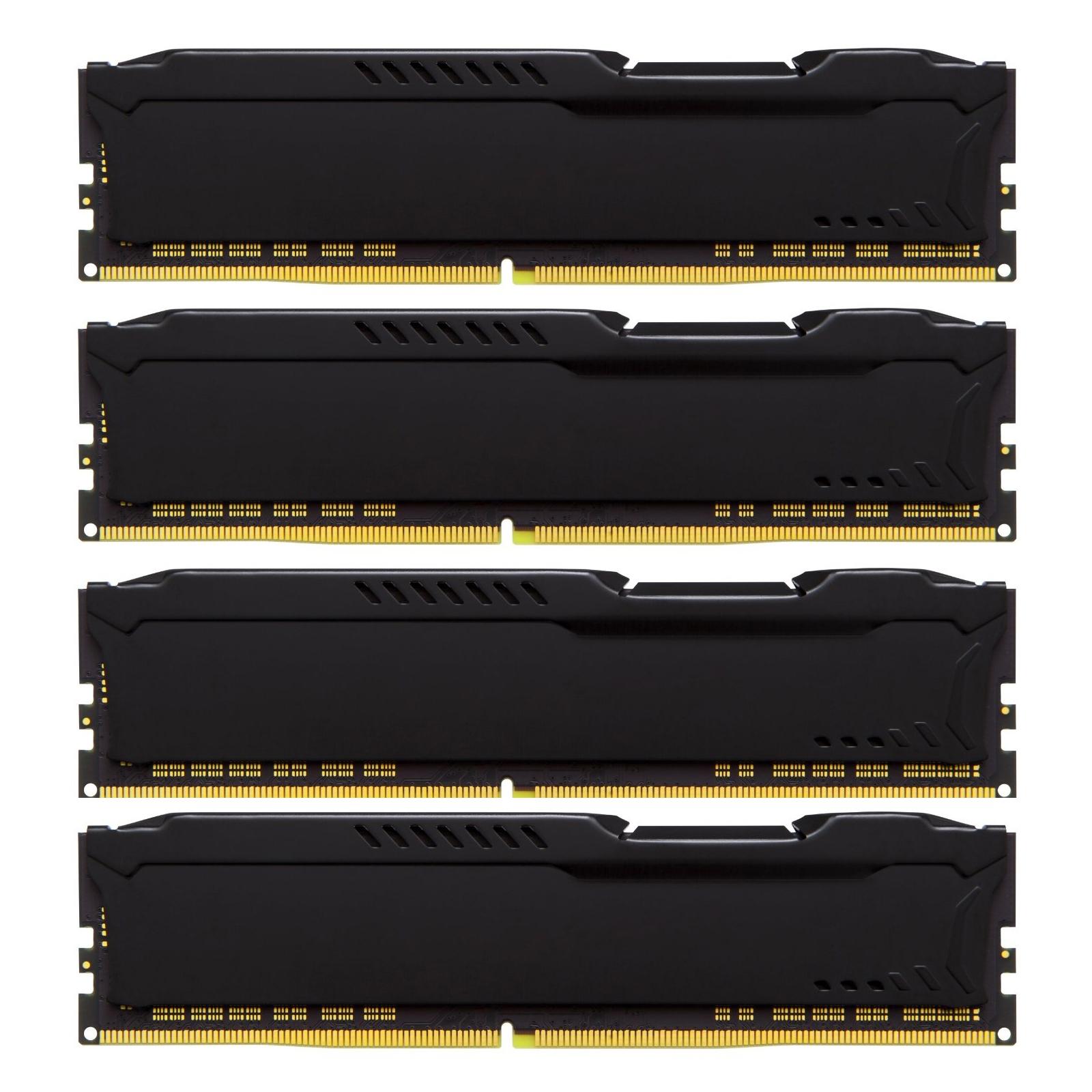Модуль памяти для компьютера DDR4 64GB (4x16GB) 2400 MHz HyperX FURY Black Kingston (HX424C15FBK4/64) изображение 3