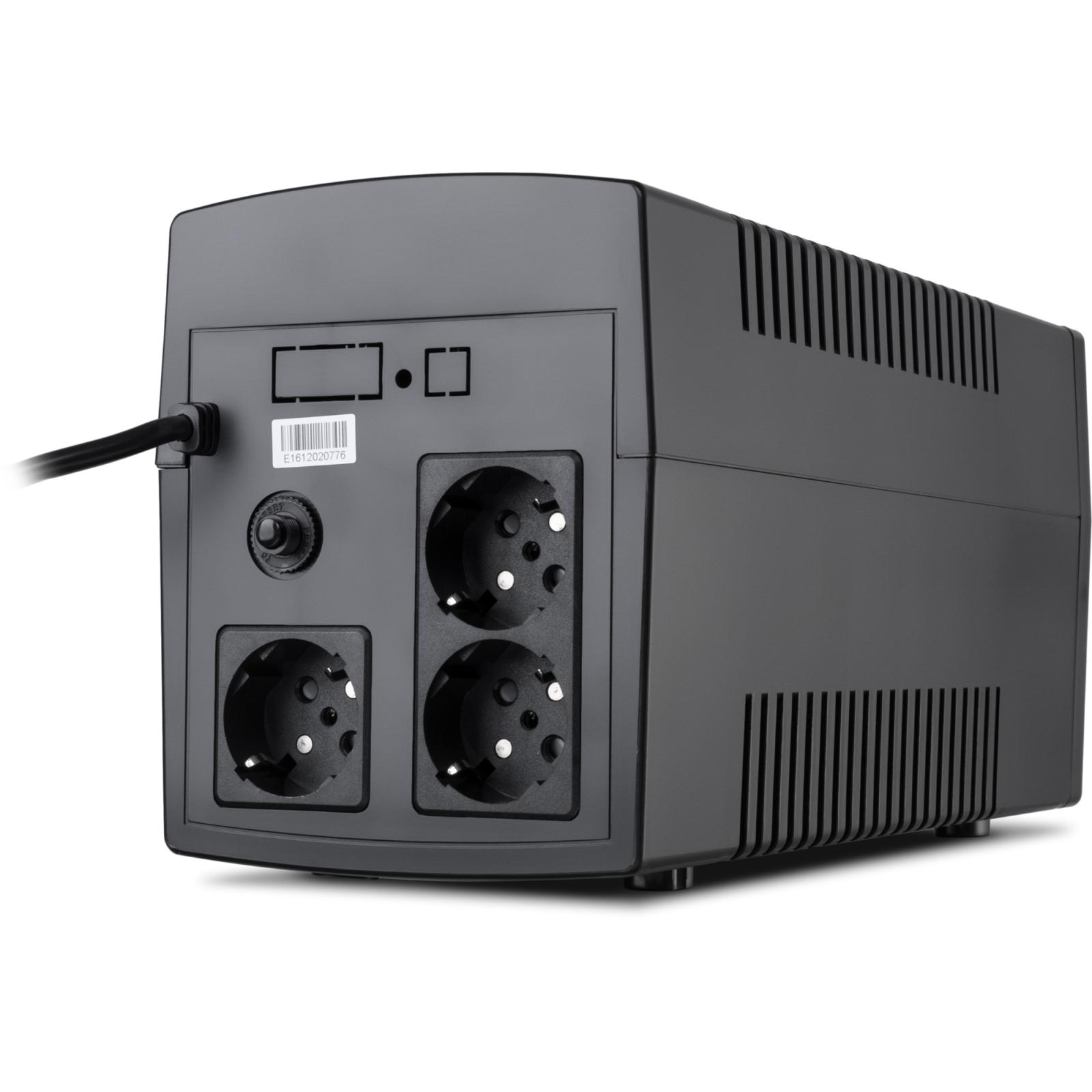 Источник бесперебойного питания Vinga LCD 1200VA plastic case (VPC-1200P) изображение 4