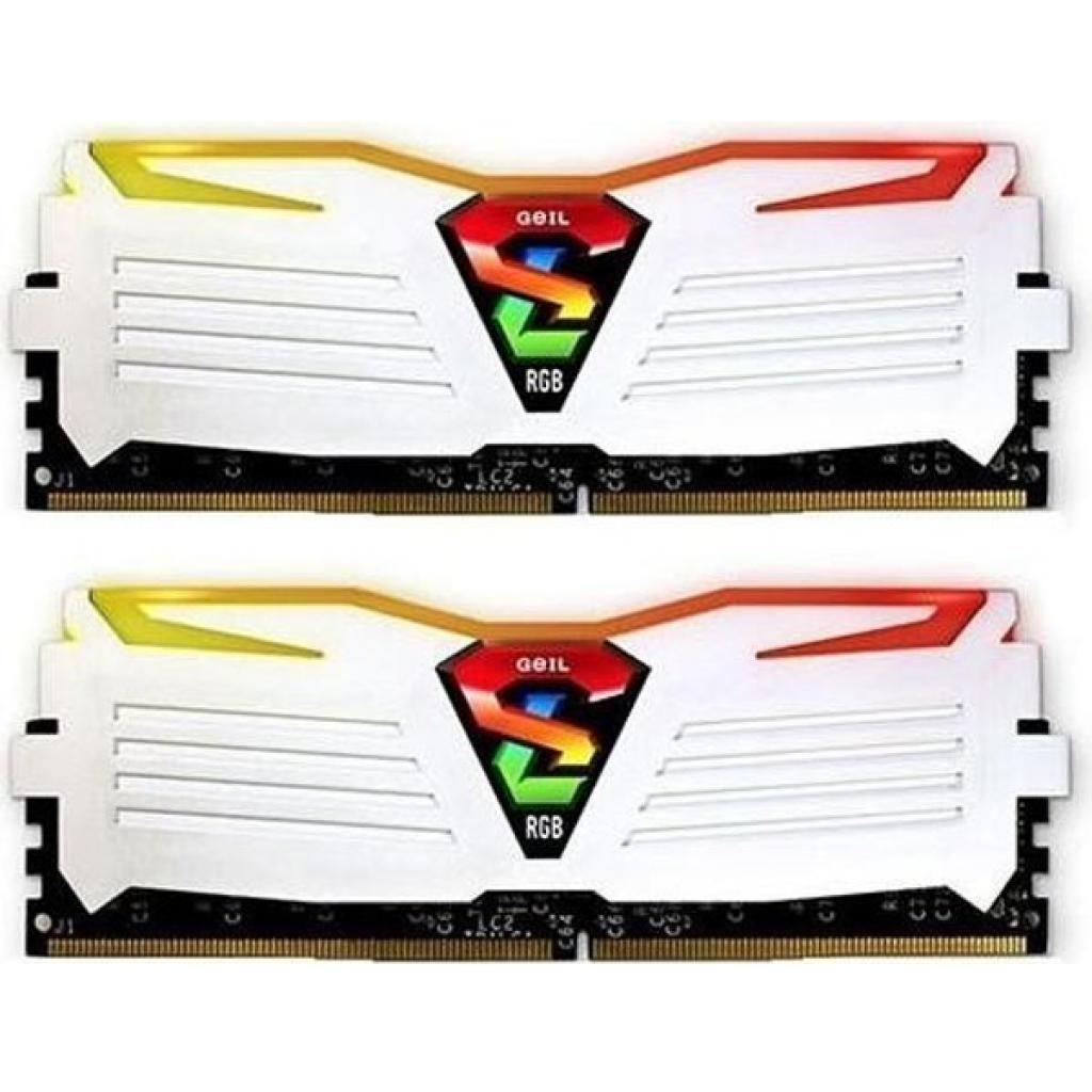 Модуль памяти для компьютера DDR4 16GB (2x8GB) 2400 MHz Super Luce White RGB LED Geil (GLWC416GB2400C16DC)