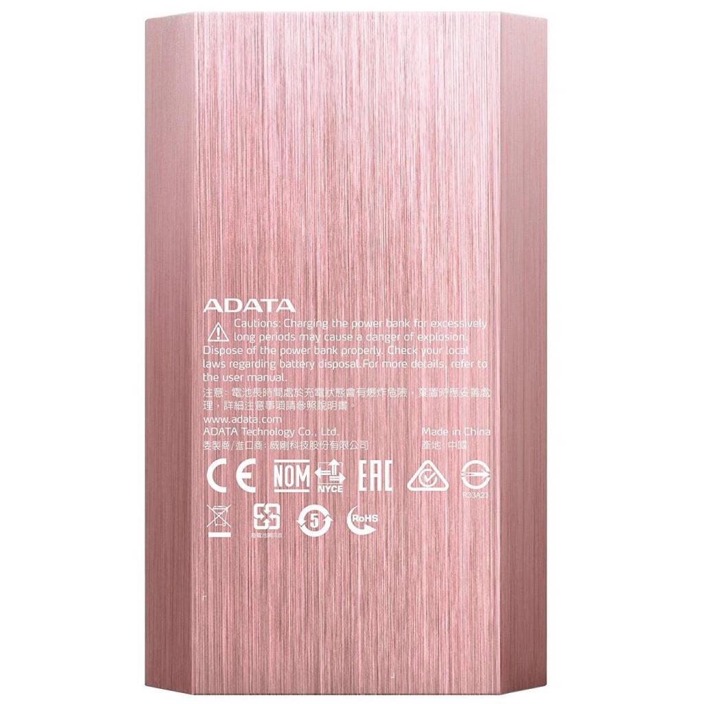 Батарея универсальная ADATA A10050 10050mAh Rose Golden (AA10050-5V-CRG) изображение 3
