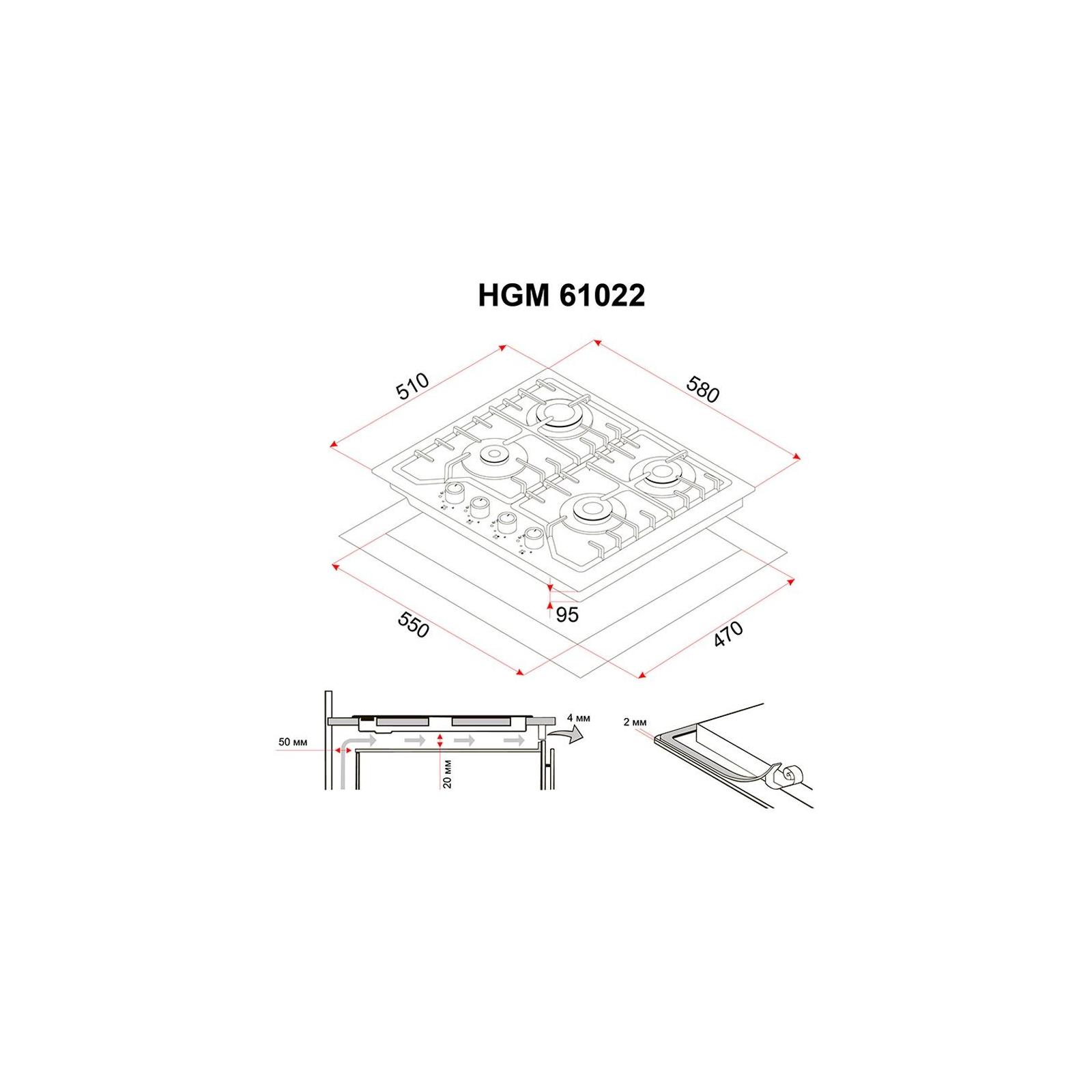 Варочная поверхность PERFELLI HGM 61022 I изображение 7