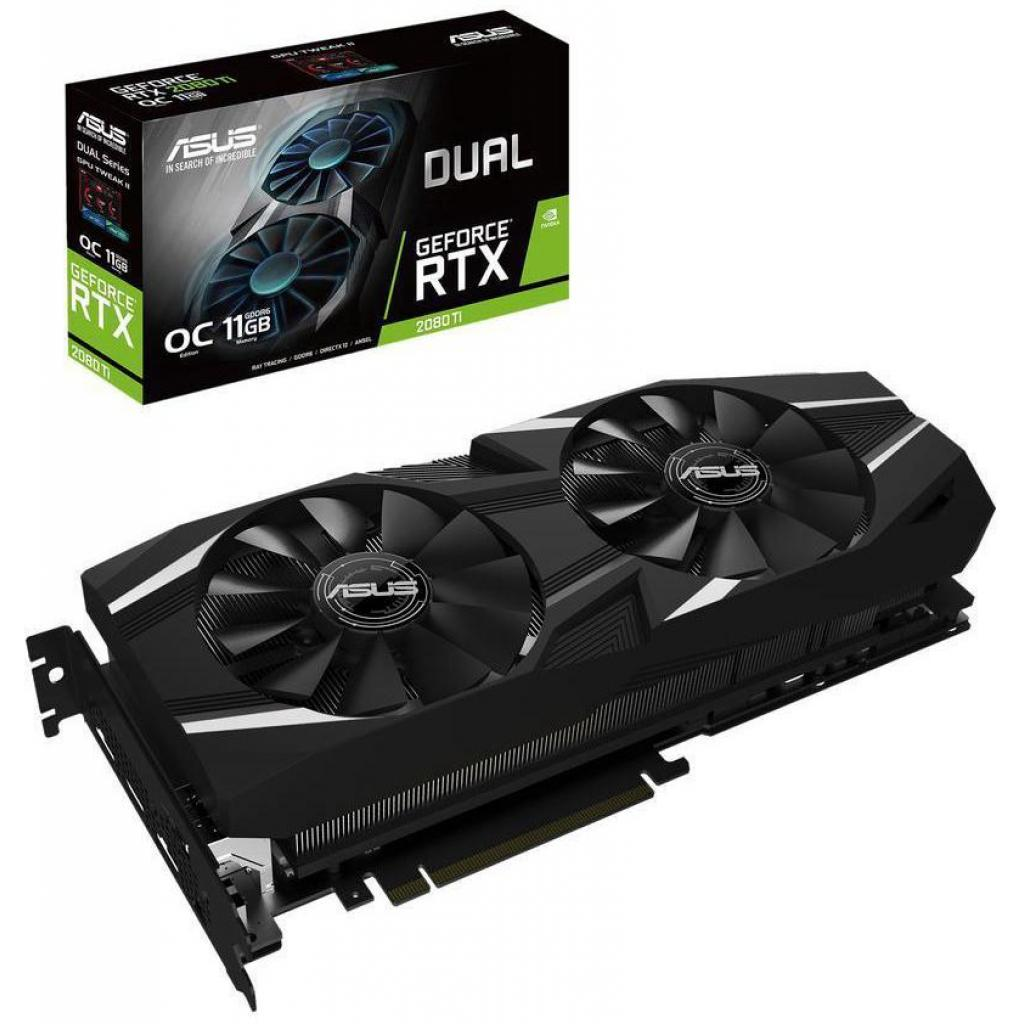 Видеокарта ASUS GeForce RTX2080 Ti 11Gb DUAL OC (DUAL-RTX2080TI-O11G)