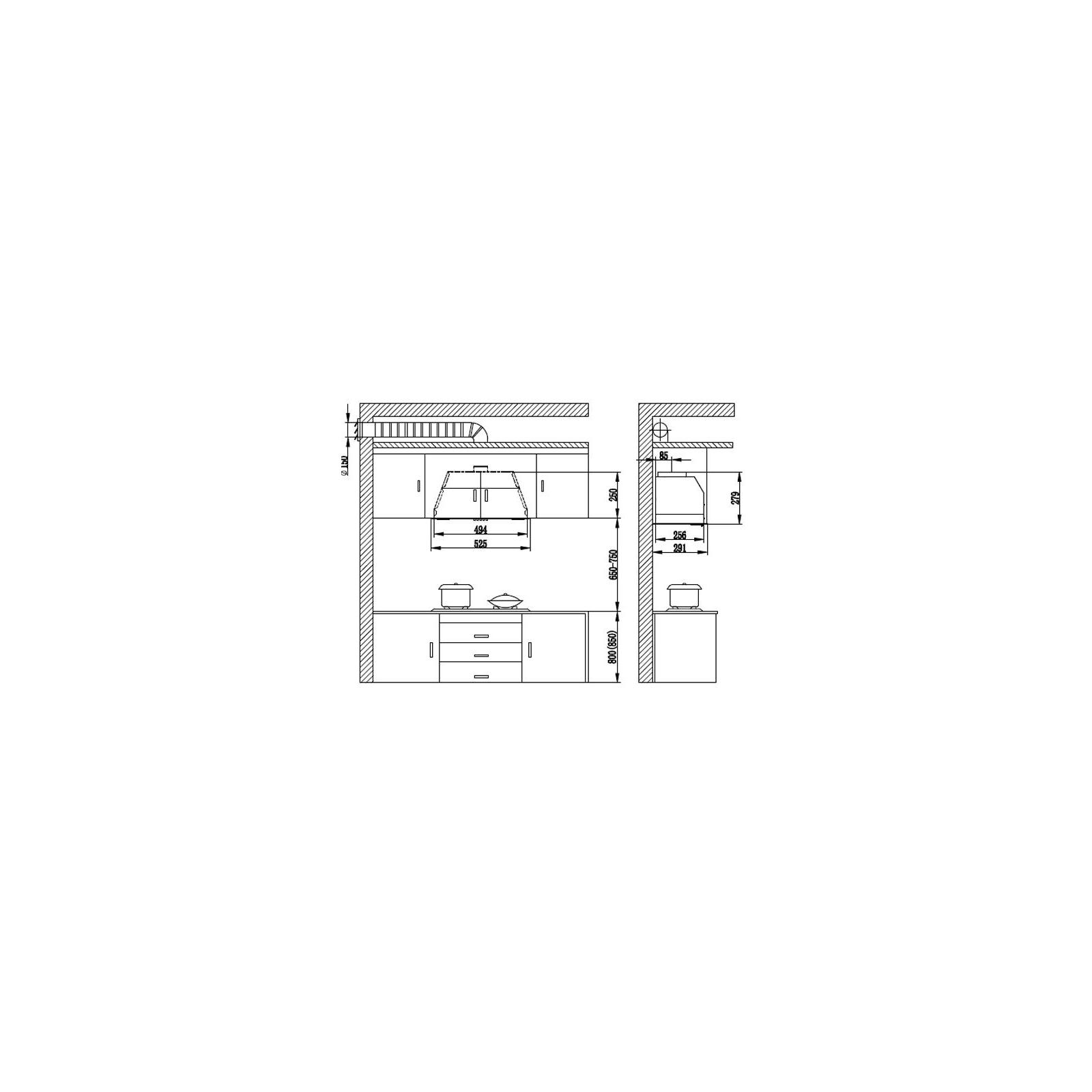Вытяжка кухонная ZIRTAL GRUPPO 5 IX изображение 6